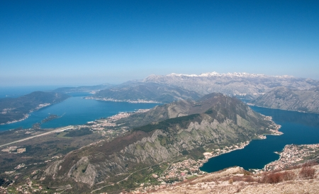 Panoramic view on Kotor, Montenegro