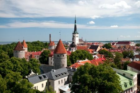 tallin: Old Tallinn in summer