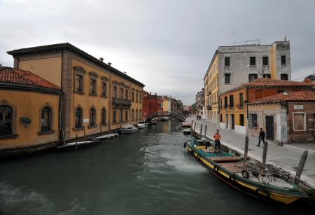 sestiere: Lovely canals in Venice  Editorial