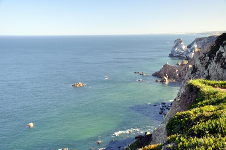 Cabo da Roca, the western point of Europe - Portugal Stock Photo - 15836955