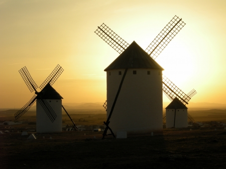 windmills, Consuegra, Castile-La Mancha, Spain photo