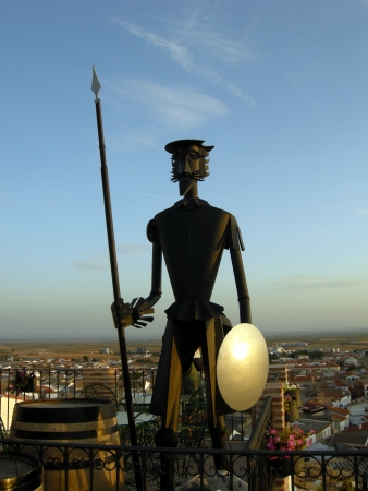 A statue of Don Quixote of La Mancha, in the state of Albacete, Spain Stock Photo - 15837018