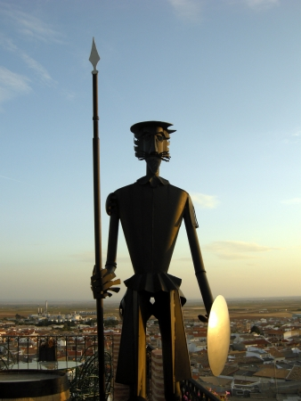 A statue of Don Quixote of La Mancha, in the state of Albacete, Spain Stock Photo - 15837015