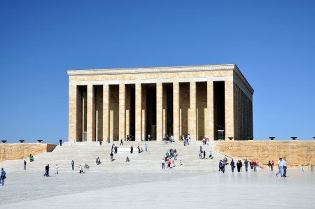 kemal: ANKARA, TURKEY - APR 23  Citizens visiting Anitkabir; the mausoleum of M Kemal Ataturk, the leader of the Turkish War of Independence and the founder of the Republic of Turkey on 23 April 2012, Ankara
