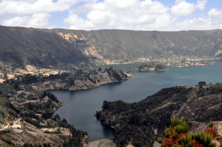 crater lake: Large panorama photo of Wenchi Crater Lake