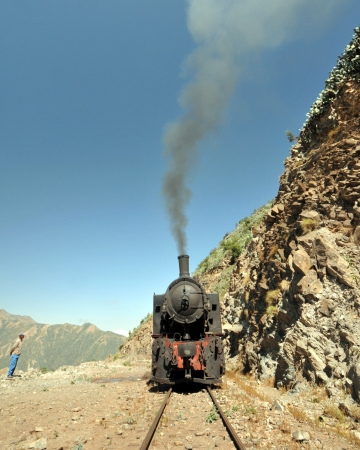 Mallet Steam Locomotive, 1939, brought by the Italians building the railway in Eritrea  photo