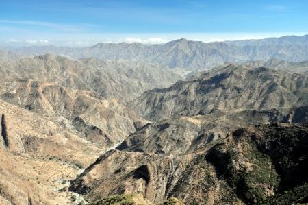 eritrea: View from the high plateau of Qohaito in Eritrea  Located over 2,500 meters above sea level in the Debub region of Eritrea  Stock Photo
