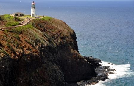 Kilauea lighthouse in Kauai, Hawaii
