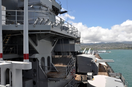 USS Missouri - decommissioned battleship USA in Pearl Harbor Hawaii