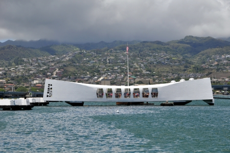U S S  Arizona Memorial in Pearl Harbor