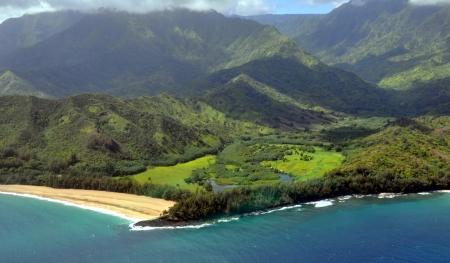 Napali Coast in Kauai, Hawaii Islands photo