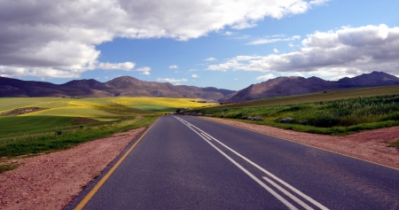 Rural road in South Africa  Banco de Imagens