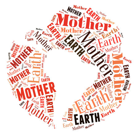 mother earth: Mother earth word cloud Stock Photo