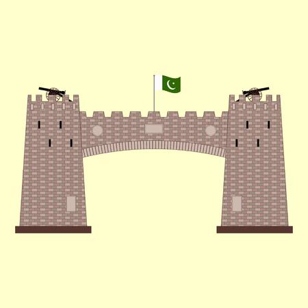 Khyber Pass in Pakistan vector