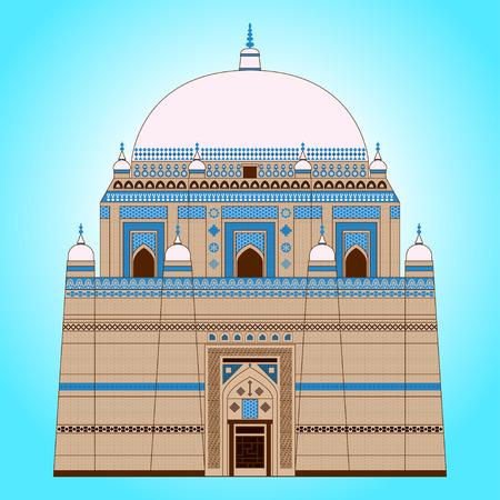 Shah Rukn e Alam Mausoleum vector