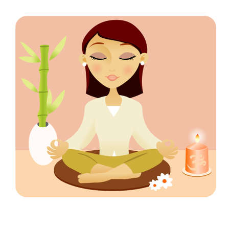 sitting meditation: meditation  Illustration