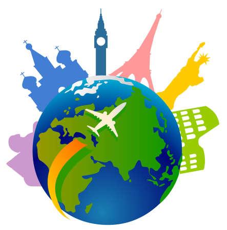 globe illustration: tourism