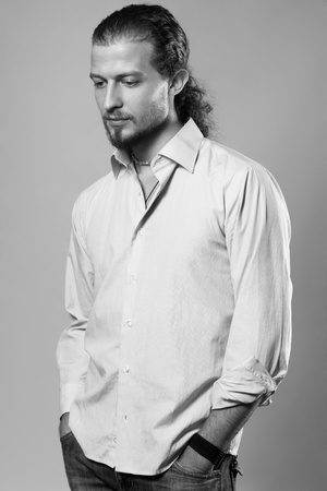 Studio portrait of handsome man  photo