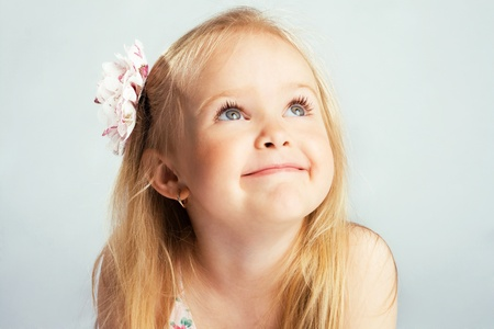Portrait of a lovely little girl  photo