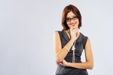 bead jewelry: Beautiful young businesswoman