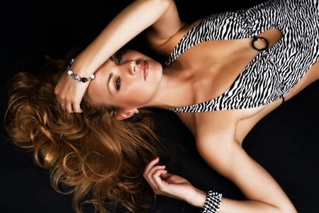 bangle: Studio portrait of gorgeous model Stock Photo