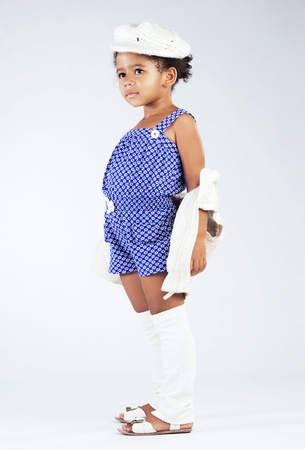 Beautiful stylish little girl  photo