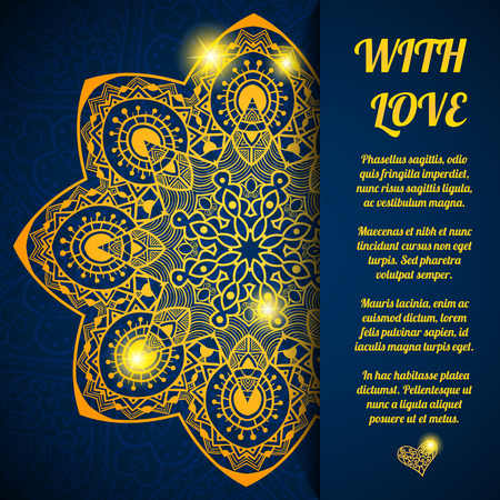 wedding symbol: Vector lacy greeting abstract holiday background