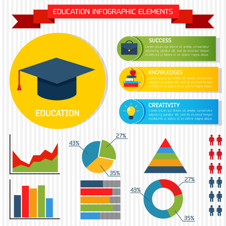 Flat Education Vector Infographic Background for you Design
