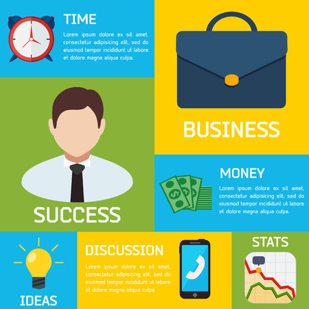 Flat Business Vector Infographic Background for you Design
