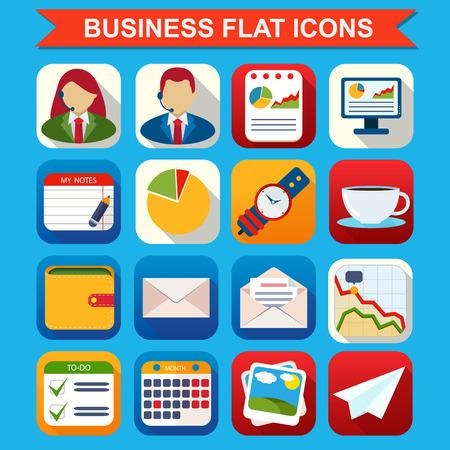 Flat Icons for Web and Mobile Applications Ilustração