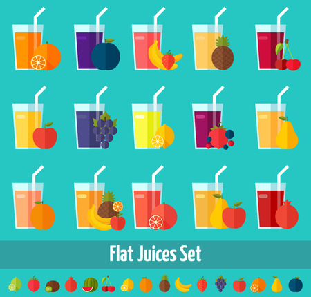 fresh juice: Colorful theme for your design, prints and illustrations