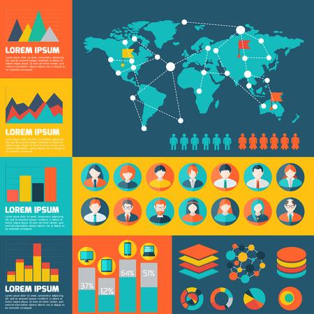 Social Network vector illustration background.  Communication and technology vector illustration Ilustração