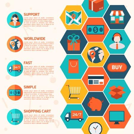 Colorful design elements for mobile and web applications. Ilustração
