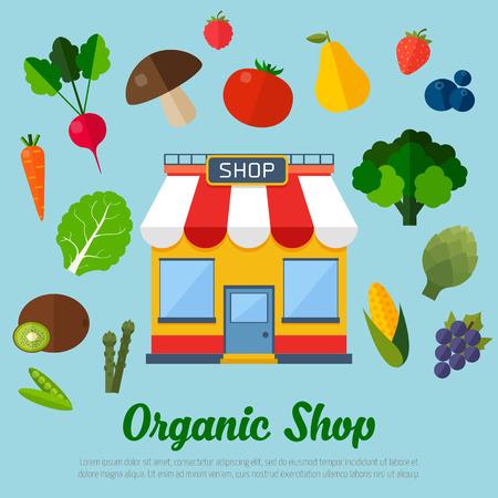 Vegetarian food background. Colorful template for cooking, restaurant menu and vegetarian food Illustration
