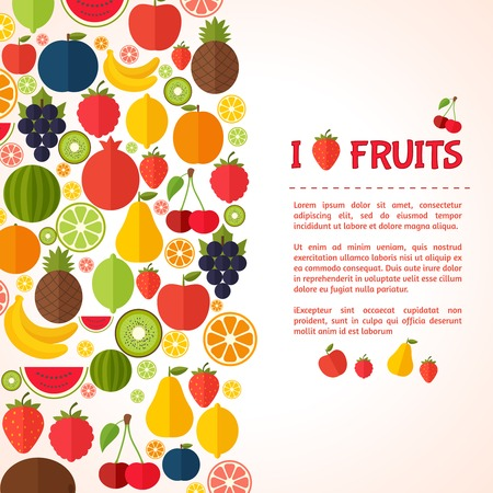 Colorful template for cooking, restaurant menu and vegetarian food Illustration