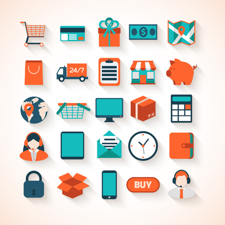 Colorful design elements for mobile and web applications. Illustration