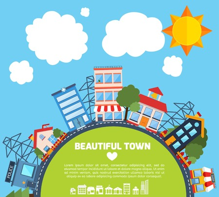 Infrastructure vector illustration. Colorful template with for you design, web and mobile applications Illustration