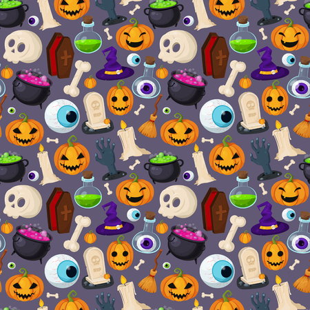 Halloween collection. Set of Halloween symbol. Funny and creepy background