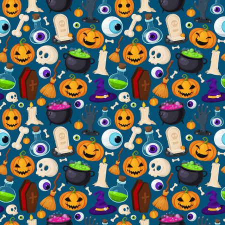 Halloween collections for your design. Set of cute halloween elements.