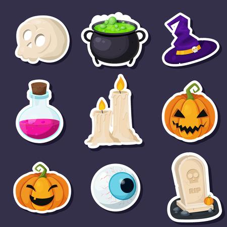 Halloween Scrapbook Set Banco de Imagens - 46713884