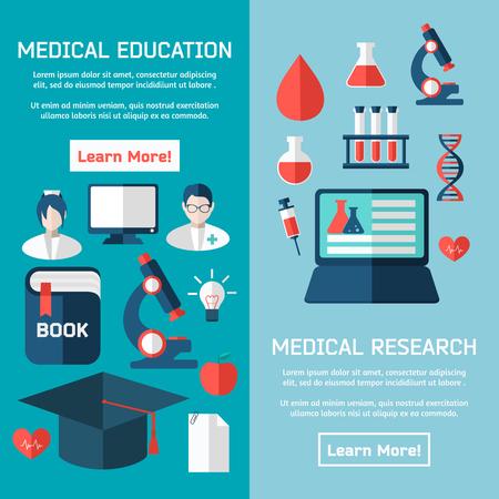Flat design concepts of medical poster