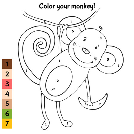 funny: Color your funny monkey