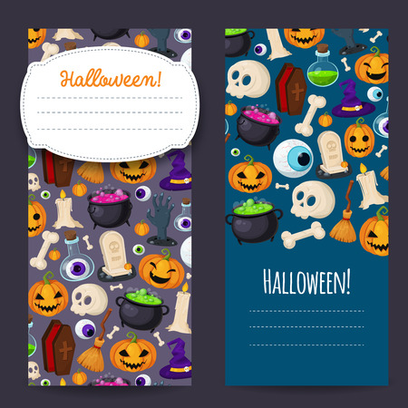 Happy Halloween banners Banco de Imagens - 46714002