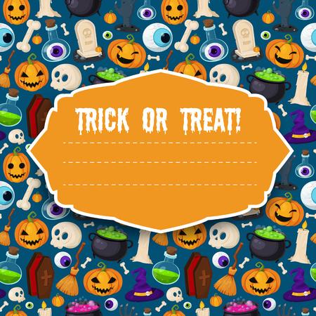 Set van leuke Halloween iconen Stock Illustratie