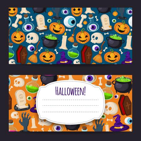 Set van twee Halloween achtergrond