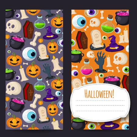 Happy Halloween banners Ilustracja