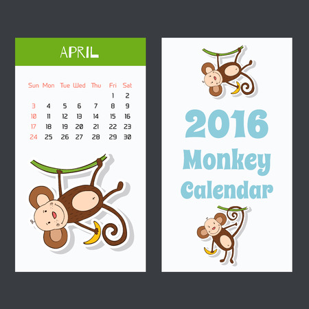 Symbol of 2016 New Years design in flat style