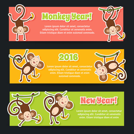jumping monkeys: Colorful theme for your design, prints and illustrations