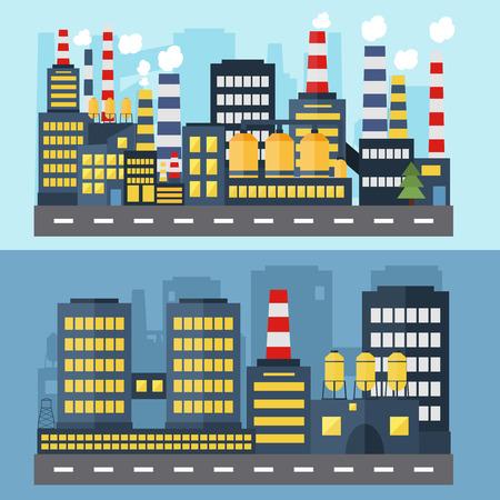 Concept voor web-banners en infographic. Set van industriële iconen.