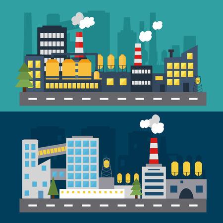 建物のアイコン。フラットなデザインのモダンなベクトル イラスト。ウェブのバナーやインフォ グラフィックのコンセプトです。都市生活。